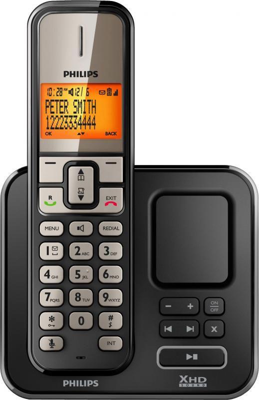 Радиотелефон PHILIPS SE2751,  черный [se2751b/51]