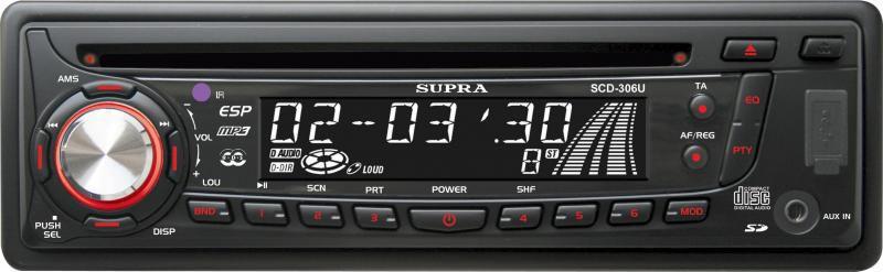 Автомагнитола SUPRA SCD-306U,  USB,  SD/MMC