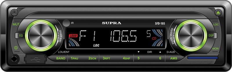 Автомагнитола SUPRA SFD-105U,  USB,  SD/MMC