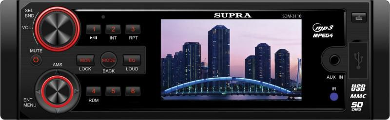 Автомагнитола SUPRA SDM-3110,  USB,  SD/MMC