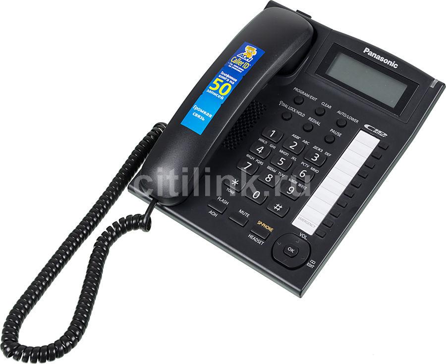 Проводной телефон PANASONIC KX-TS2388RUB, черный