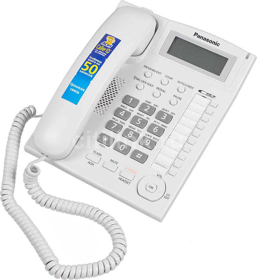 Телефон Panasonic KX-TS2388RUW (белый) (отремонтированный)