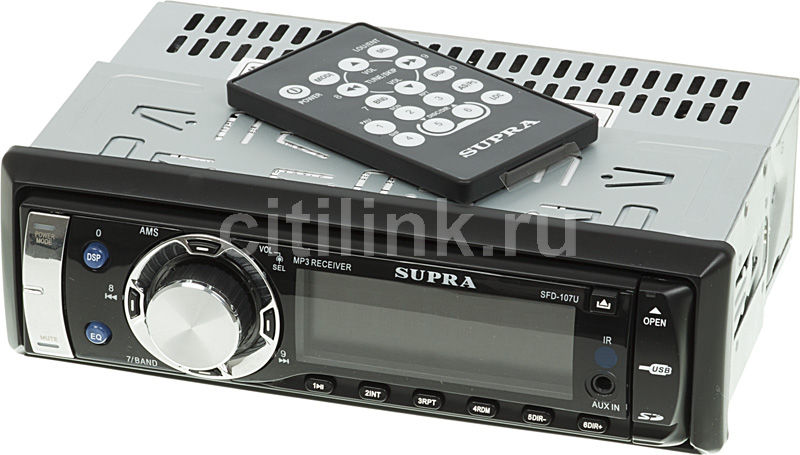 Автомагнитола SUPRA SFD-107U,  USB,  SD/MMC