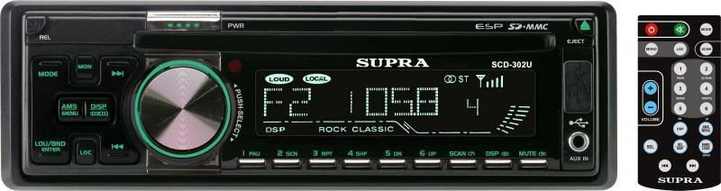 Автомагнитола SUPRA SCD-302U,  USB,  SD/MMC
