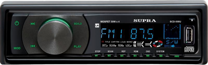 Автомагнитола SUPRA SCD-508U,  USB,  SD/MMC