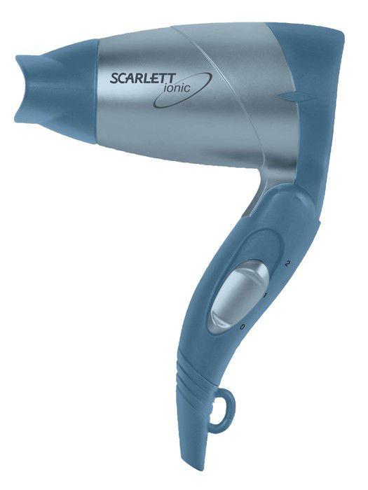 Фен SCARLETT SC074, 1300Вт, голубой