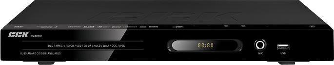 DVD-плеер BBK DV438SI,  черный,  диск 500 песен