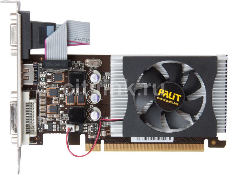 Видеокарта PALIT GeForce GT 220,  1Гб, DDR3, Low Profile,  oem [neat220dhd01-108xf]