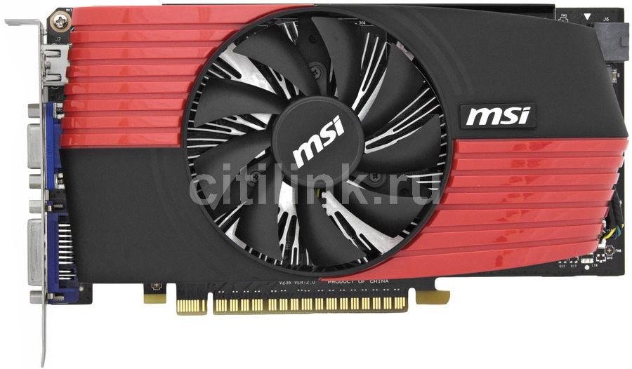 Видеокарта MSI GeForce GTS 450,  512Мб, GDDR5, OC,  Ret [n450gts-md512 d5/oc]