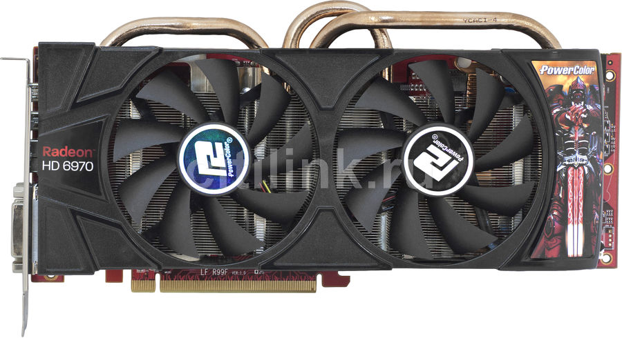 Видеокарта POWERCOLOR Radeon HD 6970, AX6970 2GBD5-2DH,  2Гб, GDDR5, Ret