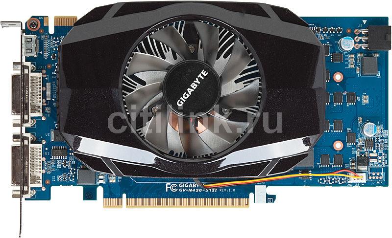 Видеокарта GIGABYTE nVidia  GeForce GTS 450 ,  512Мб, GDDR5, Ret [gv-n450-512i]