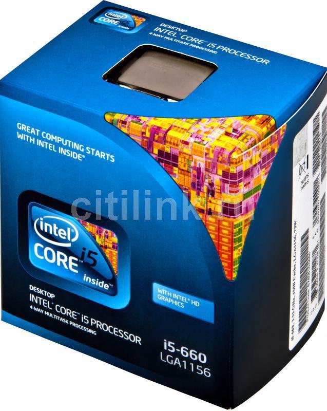 Процессор INTEL Core i5 660, LGA 1156 BOX [bx80616i5660 s lbtk]