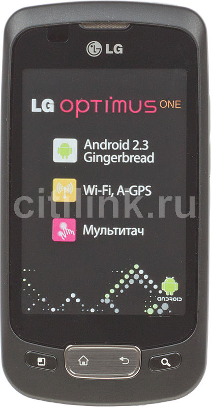 Смартфон LG Optimus One P500  черный