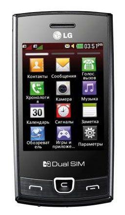 Мобильный телефон LG P520  черный