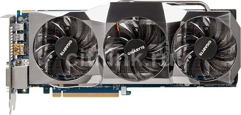 Видеокарта GIGABYTE Radeon HD 6870,  1Гб, GDDR5, OC,  Ret [gv-r687oc-1gd]