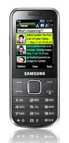 Мобильный телефон SAMSUNG GT-C3530  серебристый