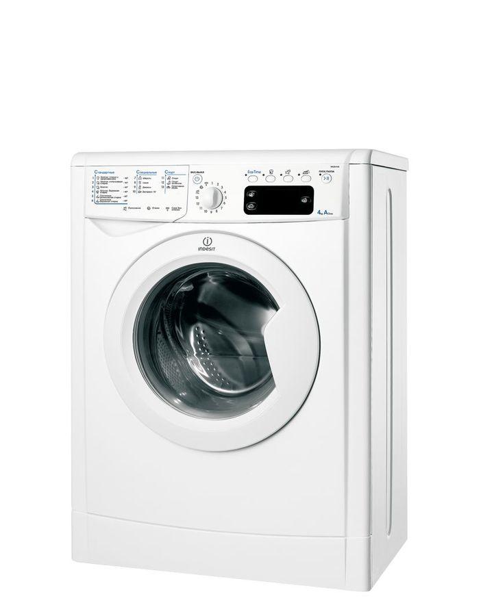 Стиральная машина INDESIT IWUE 4105, фронтальная загрузка,  белый