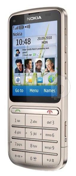 Мобильный телефон NOKIA C3-01  хаки золотистый