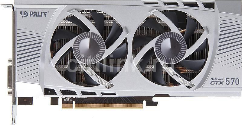 Видеокарта PALIT GeForce GTX 570,  1.3Гб, GDDR5, OC,  Ret [ne5x570h10da-110xf]