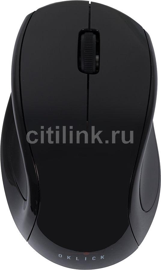 Мышь OKLICK 412MW оптическая беспроводная USB, черный [b319+c55]