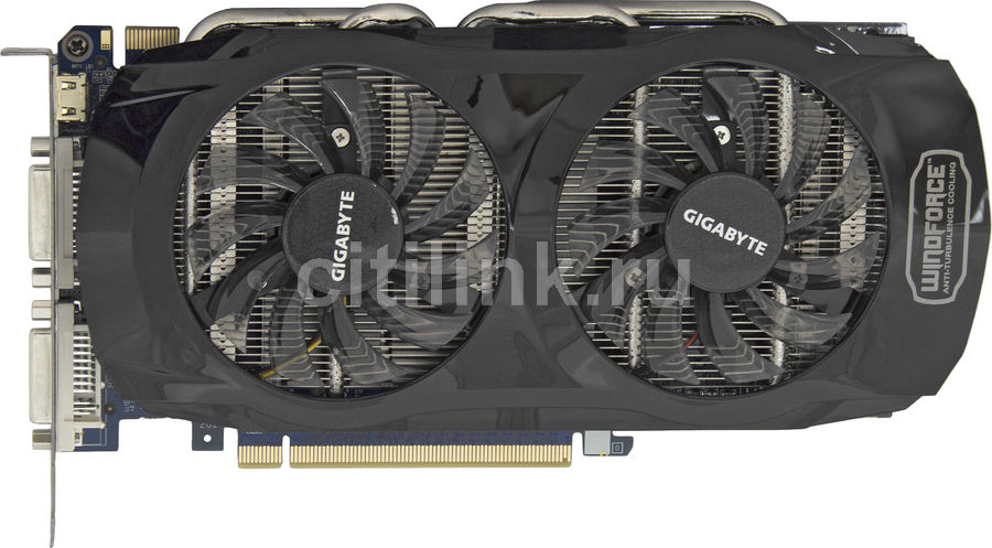 Видеокарта GIGABYTE GeForce GTX 560Ti,  1Гб, GDDR5, OC,  Ret [gv-n560oc-1gi]