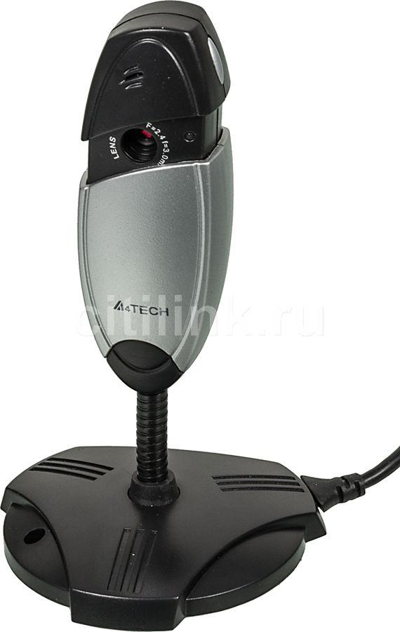 Web-камера A4 PK-635K,  черный и серебристый [pk-635k (silver+black)]