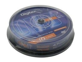 Оптический диск DVD-R DIGITEX 4.7Гб 16x, 10шт., cake box, printable [dvd-r47i16-c10]
