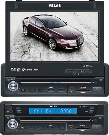 Автомагнитола VELAS VD-M741U,  USB,  SD