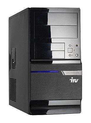 IRU Home 310,  Intel  Pentium  E5500,  DDR2 2Гб, 320Гб,  nVIDIA GeForce GT240 - 1024 Мб,  DVD-RW,  CR,  Windows 7 Home Basic,  черный