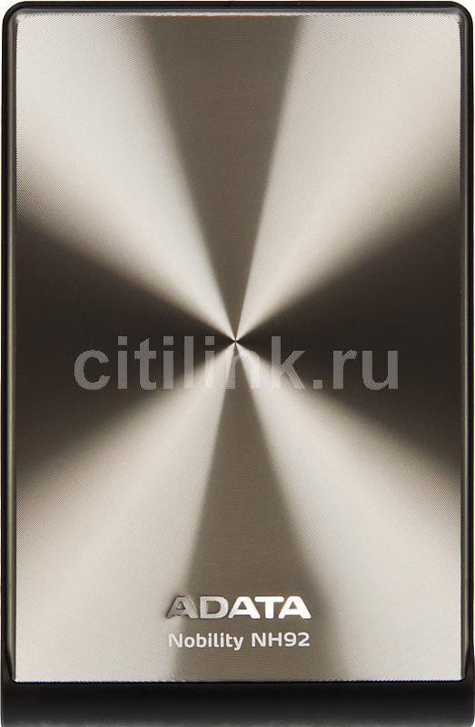 Внешний жесткий диск A-DATA Nobility NH92, 750Гб, серебристый [anh92-750gu-csv]