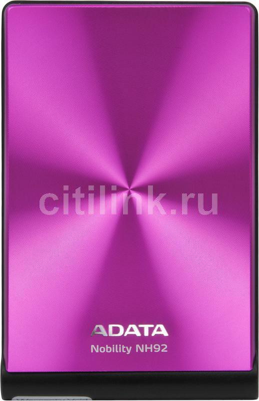 Внешний жесткий диск A-DATA Nobility NH92, 750Гб, розовый [anh92-750gu-cpk]