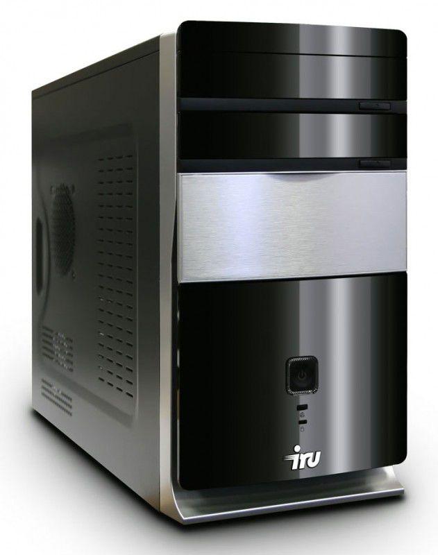 IRU Home 521,  AMD  Athlon II X3  440,  DDR2 2Гб, 320Гб,  AMD Radeon HD 5450 - 1024 Мб,  DVD-RW,  CR,  Windows 7 Home Basic,  черный