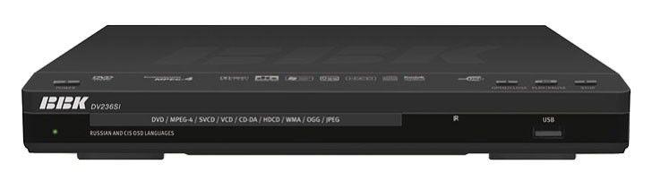 DVD-плеер BBK DV236SI,  черный,  диск 500 песен