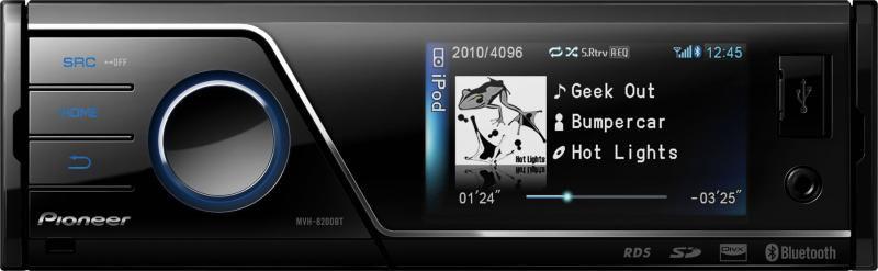 Автомагнитола PIONEER MVH-8200BT,  USB,  SD