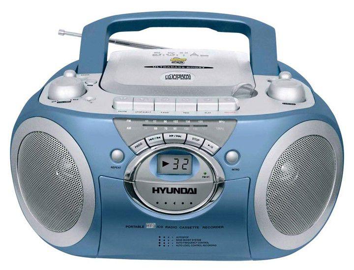 Аудиомагнитола HYUNDAI H-1402,  темно-серый и серебристый
