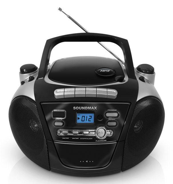 Аудиомагнитола SOUNDMAX SM-2403,  черный