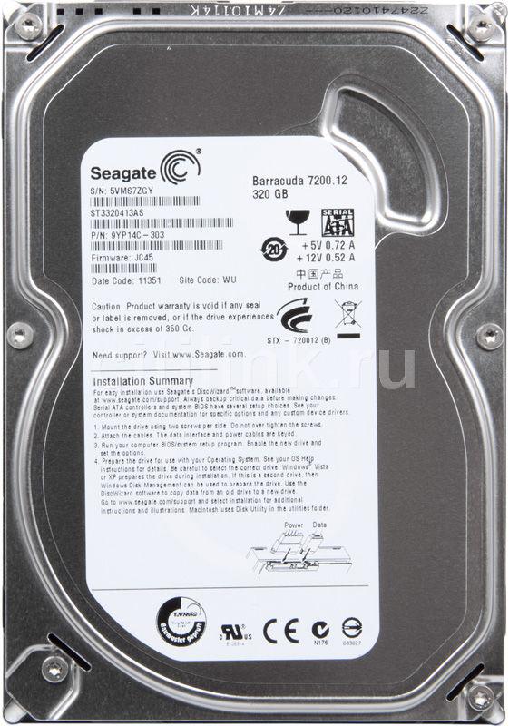 Жесткий диск SEAGATE Barracuda 7200.12 ST3320413AS,  320Гб,  HDD,  SATA III,  3.5