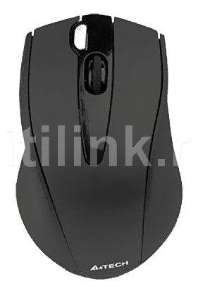 Мышь A4 V-Track G9-500F-1 оптическая беспроводная USB, черный