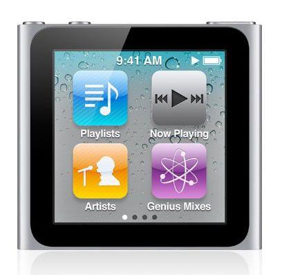 MP3 плеер APPLE iPod Nano flash 8Гб серебристый [mc525]