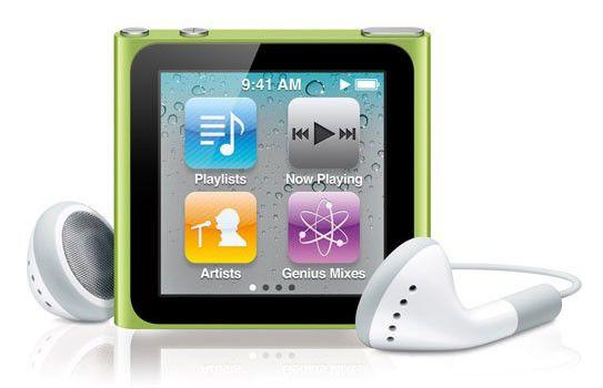 MP3 плеер APPLE iPod Nano flash 8Гб зеленый [mc690]