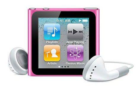 MP3 плеер APPLE iPod Nano flash 8Гб розовый [mc692]