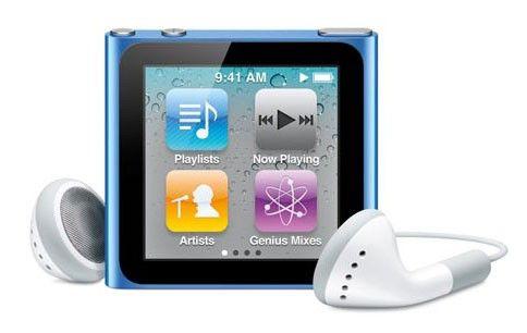 MP3 плеер APPLE iPod Nano flash 16Гб голубой [mc695]