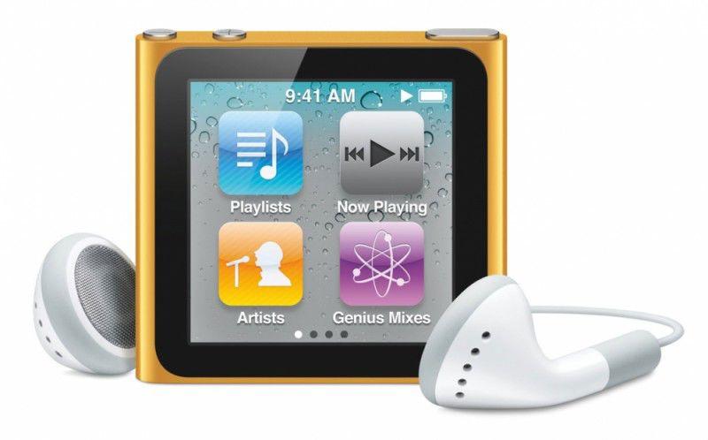 MP3 плеер APPLE iPod Nano flash 16Гб оранжевый [mc697]
