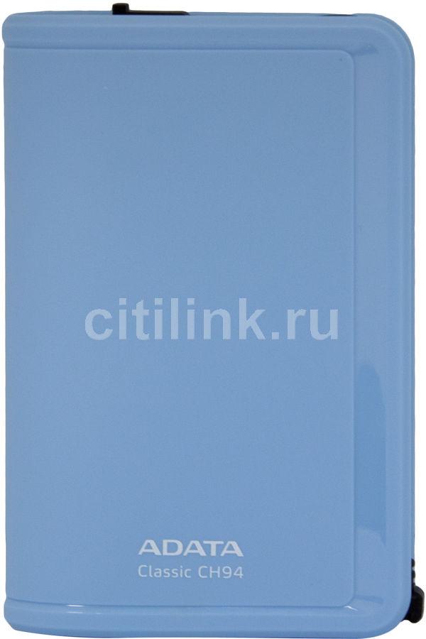 Внешний жесткий диск A-DATA Classic CH94, 750Гб, голубой [ach94-750gu-cbl]