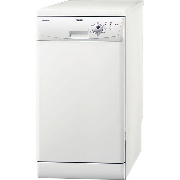 Посудомоечная машина ZANUSSI ZDS105,  узкая, белая