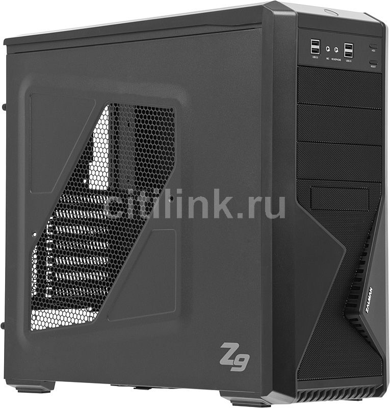 Корпус ATX ZALMAN Z9, Midi-Tower, без БП,  черный