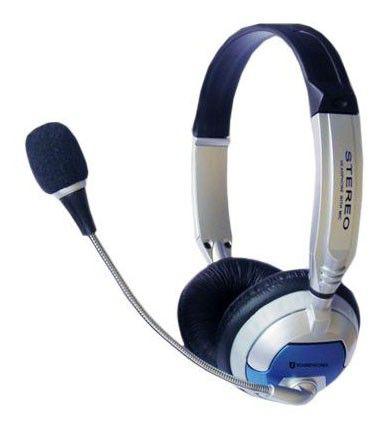 Наушники Soundtronix S-686 blue/silver/black с микрофоном Накладные