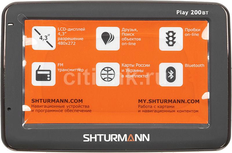 GPS навигатор SHTURMANN Play 200 ВТ,  4.3