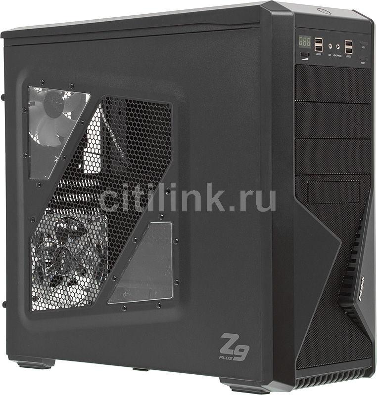 Корпус ATX ZALMAN Z9 Plus, Midi-Tower, без БП,  черный