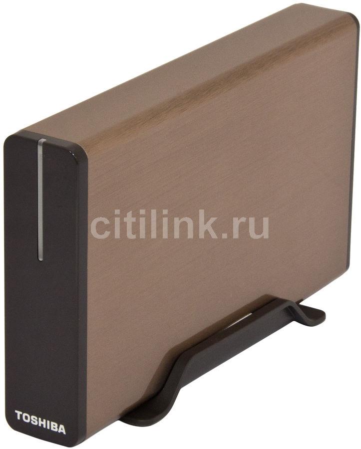 Внешний жесткий диск TOSHIBA STOR.E ALU2, 2Тб, коричневый [px1639m-1hl0]